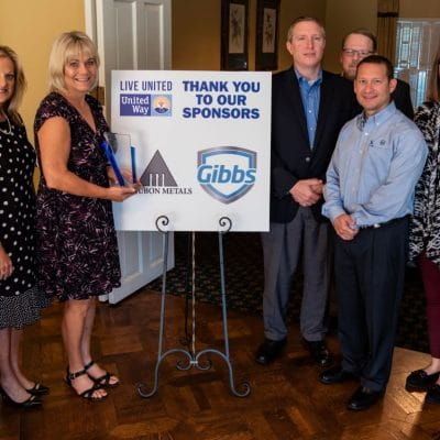 Gibbs Recognized as Top Donor to United Way